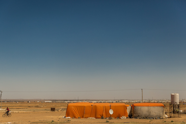 A Home Shared By Two Families 13 People In The Mafraq Tent Camp