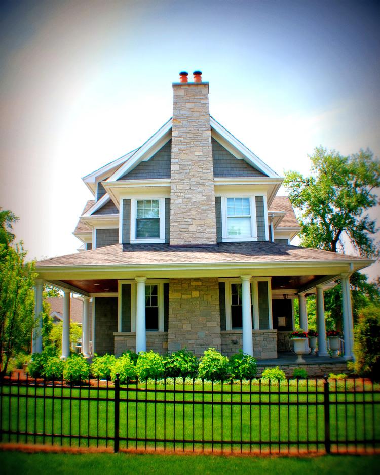 sprawling colonial farmhouse — martire custom homes