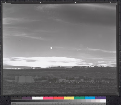 """Moonrise Over Hernandez"" - out of camera  Ansel Adams"
