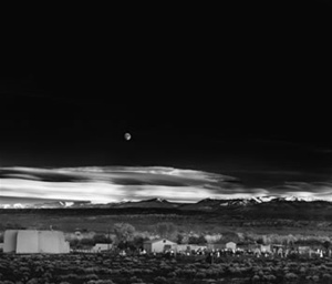 """Moonrise Over Hernandez"" - darkroom edited  Ansel Adams"