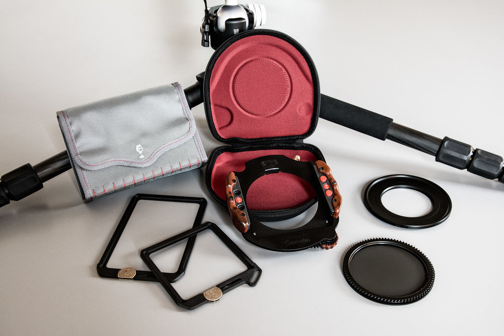 Holder, Adapter Ring, Polarizer, ND Vault, Grad Vault, & Cases (tripod not included)