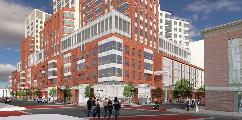 Artist rendering of the new BTC at the corner of Cherry and Pine streets, courtesy of Devonwood.
