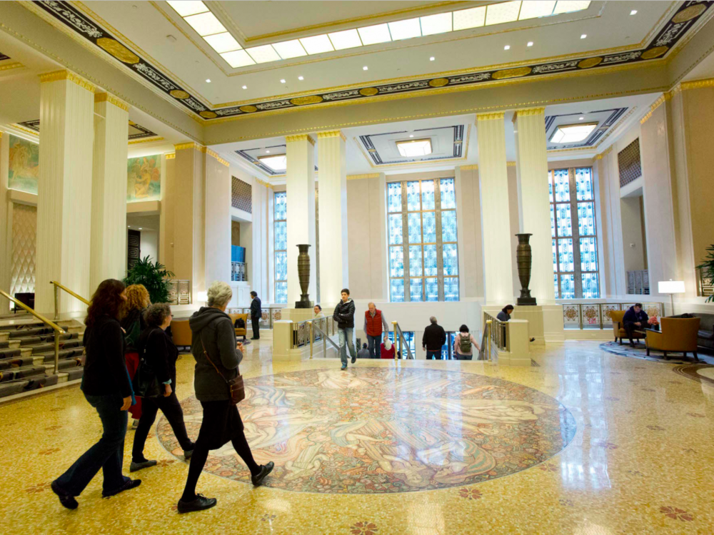 The Park Avenue lobby entrance to the Waldorf Astoria hotel.Mark Lennihan / AP Images