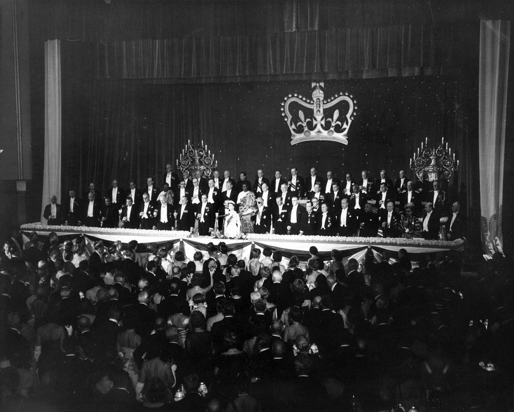 And an honorary dinner for Queen Elizabeth II was hosted in the Grand Ballroom in 1957. Photo Courtesy of The Waldorf Astoria