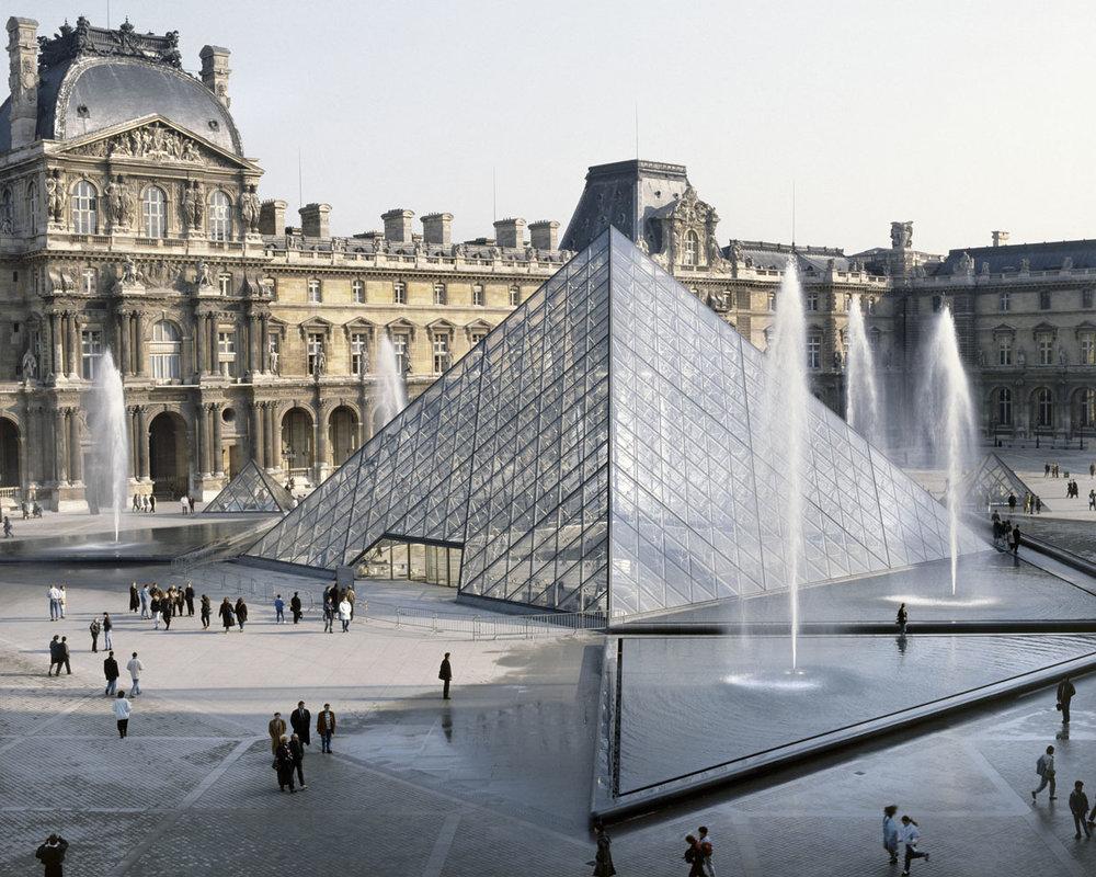 Louvre Pyramid, Paris France 1993