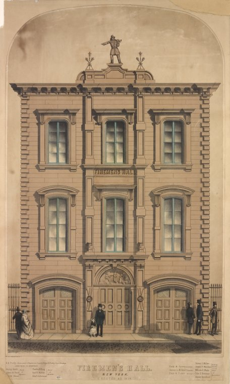 1854 as a Fireman's Hall for the City of New York's Volunteer Fire Department