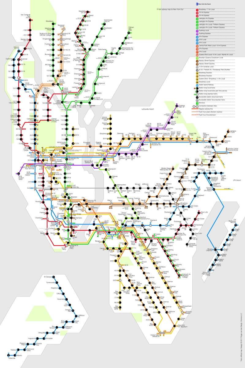 A New Subway Map For New York City Pksb Plus
