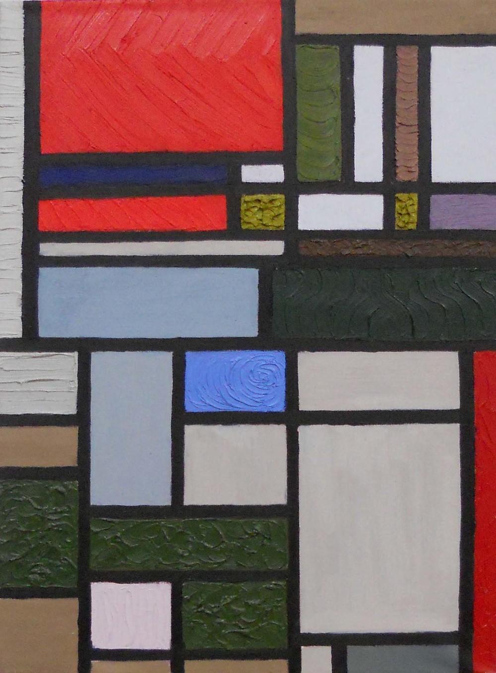 Textural Still Life after Mondrian