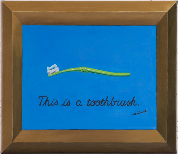 This Is A Toothbrush (after Magritte)