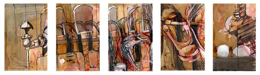 """""""Home"""" original drawings"""