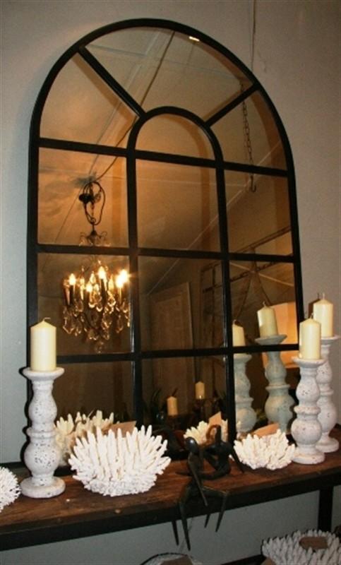 arched metal window frame mirror - Window Frame Mirror