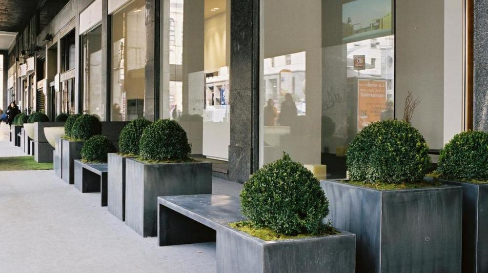 Zinc Planters with Bench Seat 'In-Out' by Domani — Parterre on urn planters, round corrugated planters, lead planters, aluminum planters, wall mounted planters, old planters, copper finish planters, iron planters, pewter planters, chrome planters, stone planters, bucket planters, long rectangular planters, stainless steel planters, window boxes planters, tall planters, corrugated raised planters, large planters, resin planters, plastic planters,