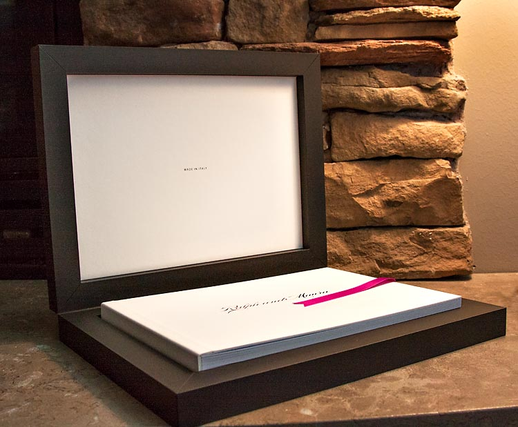 Custom Art Wedding Album, made in Italy, designed in utah