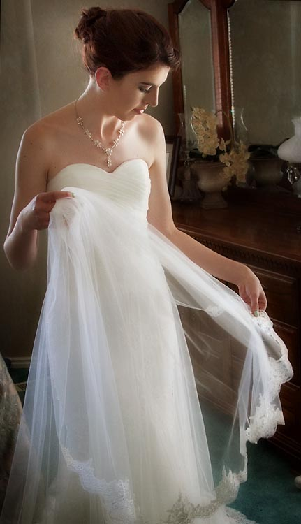 bride with veil utah wedding photograph