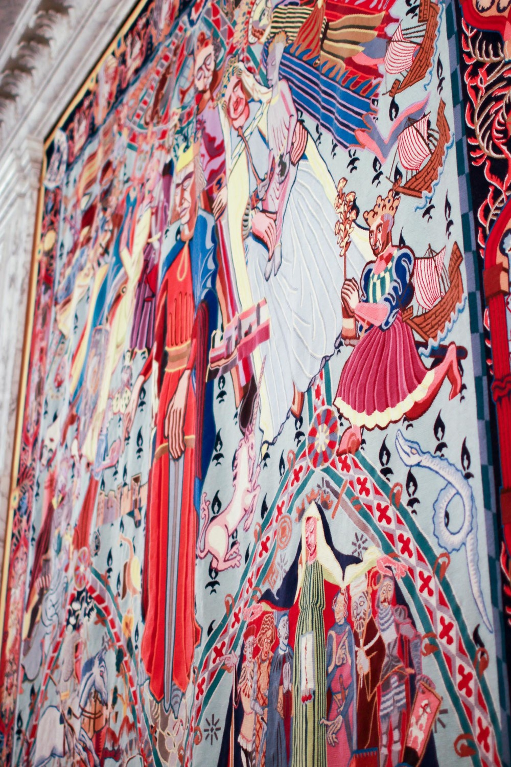 Tapestries gifted to the Queen in the year 2000