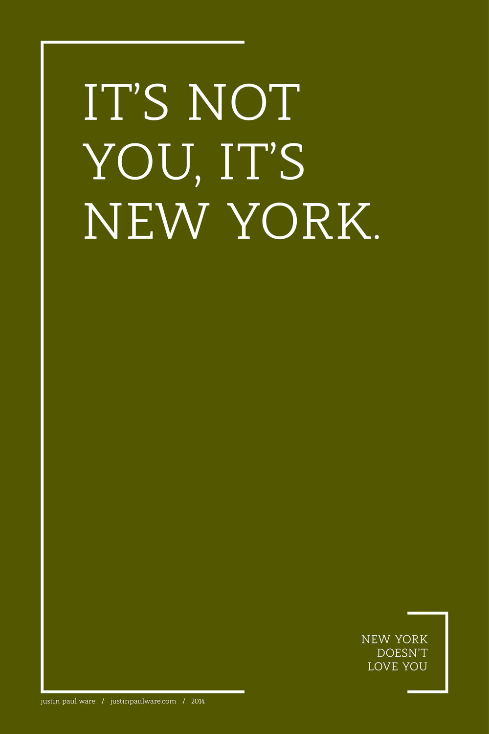 / new york doesn't love you
