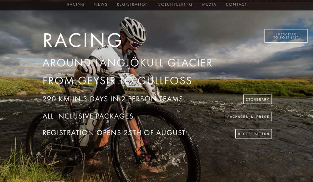 the photo of a mountain bike on the splash page should have tipped me off...