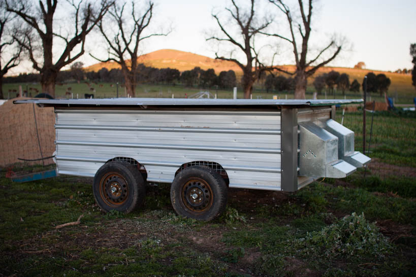 Chicken Tractor || thinkbiglivesimply.com
