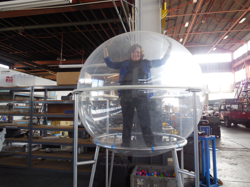 """Her Deepness,"" Dr. Sylvia Earle, in her ""happy place"" - the dome of a prototype mini-sub. Photo: Sarah Ettman-Sterner"
