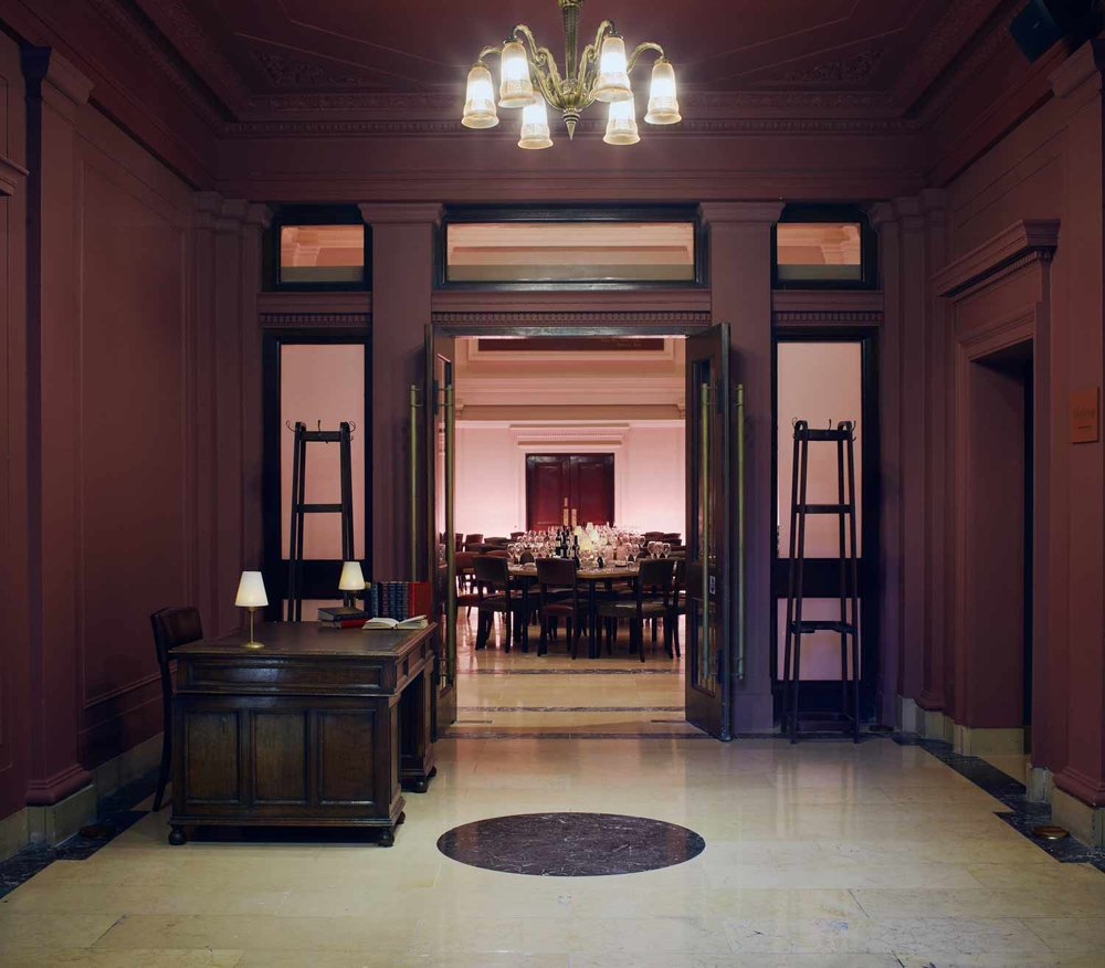 Copy of The Main Hall grand entrance to venue. Grace Hall London.