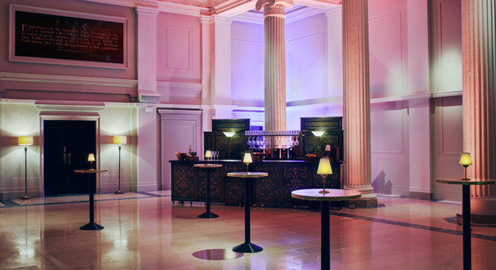Elegant seating space at Grace Hall London reception venue.