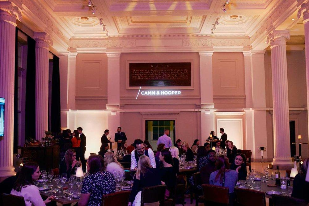 Elegant dinner venue. Grace Hall London.