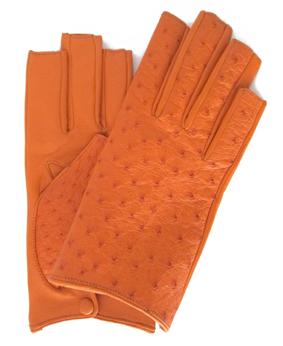 Thomasine-Gloves-ODESSA cut tips ostrich orange-silk-The-Partners-In-Crime-by-Sarvenaz-Dezvareh.jpg