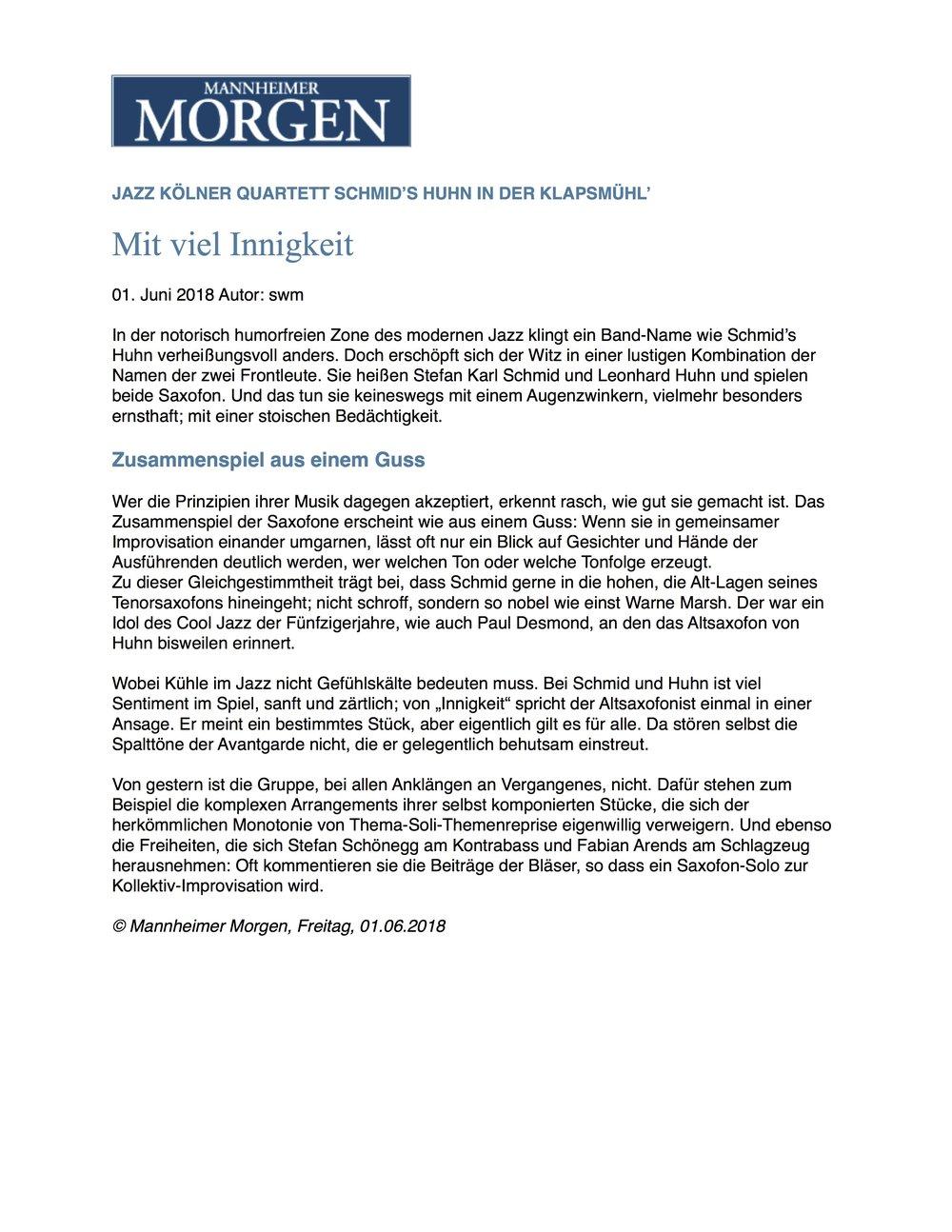 20180531 - Mannheimer Morgen Rezension Klapsmühl.jpg