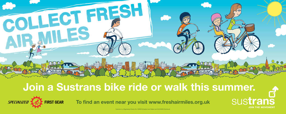 Sustrans - Collect Fresh Air Miles Banner