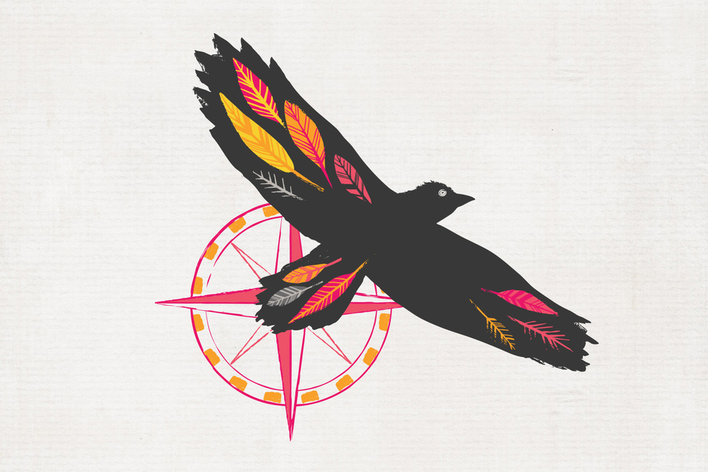 Ravenspoint Brand Element - Raven with Compass