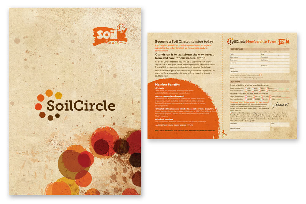 Soil Circle Joining Leaflet, incorporating the new identity