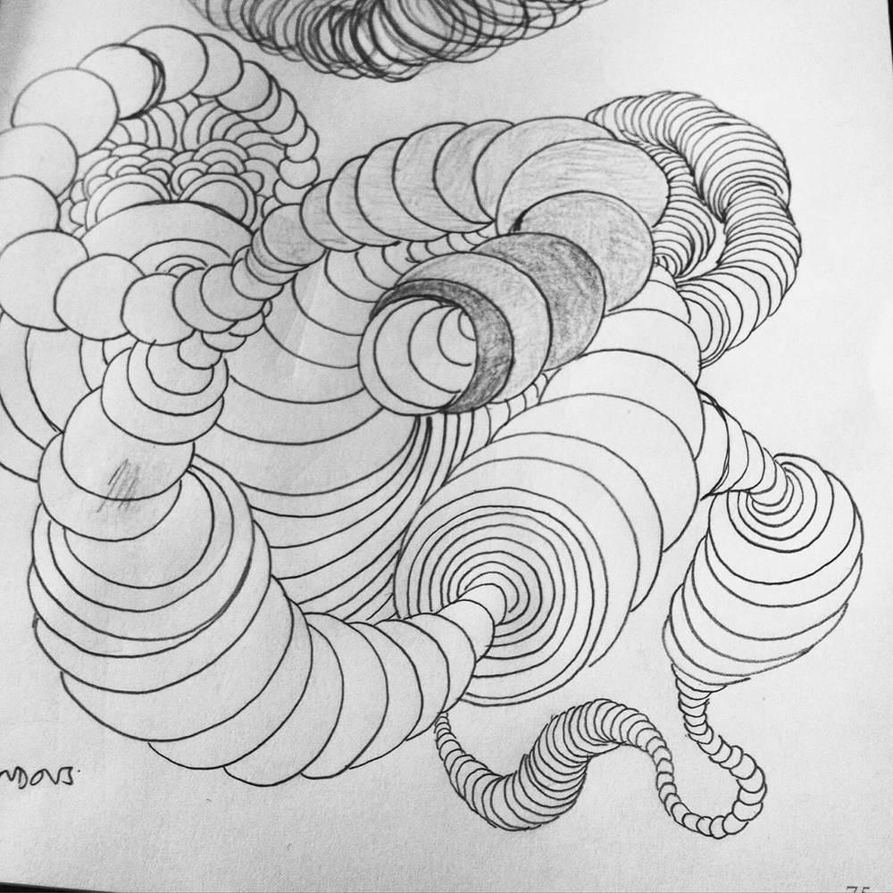 Crazy shape doodle pattern