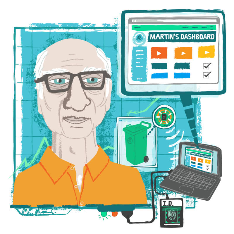 Martin is a retired bus driver, he finds computers unintuitive and confusing. Read his case study  here