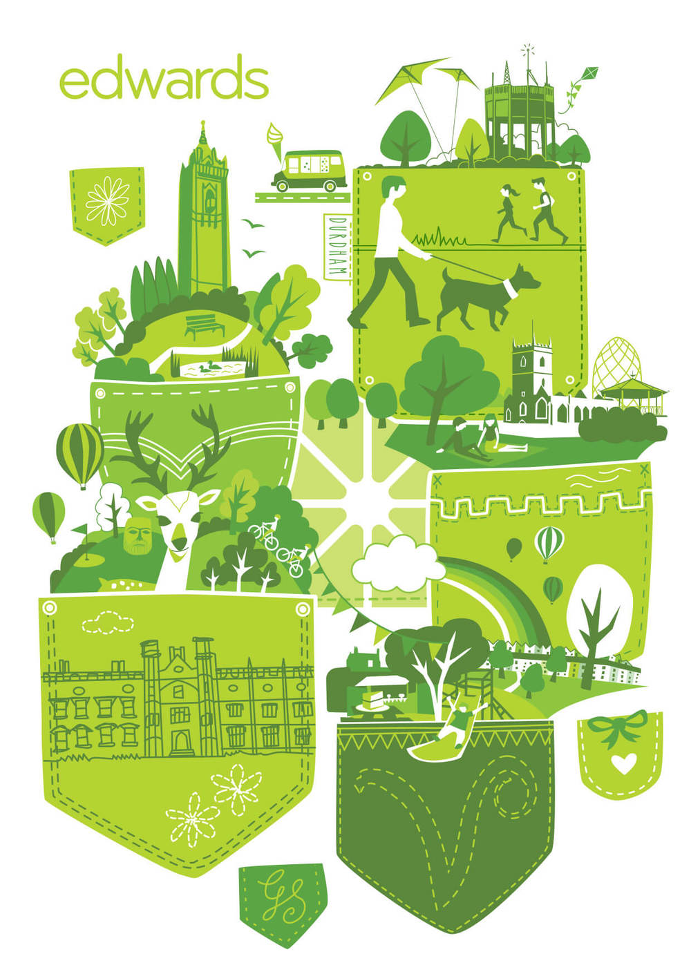 Edwards 'I Love Bristol' | Green Pockets