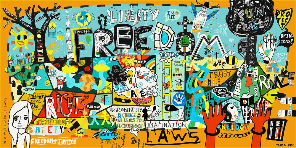 Freedom Collaboration Art Piece