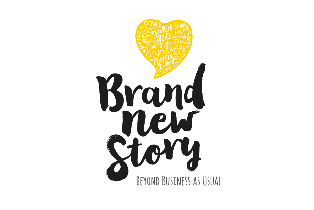 Brand New Story logotype, with the addition of a strapline