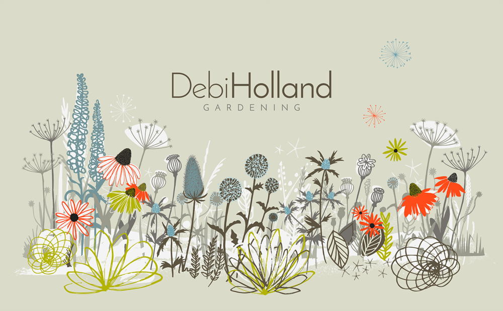 Debi Holland Gardening_Brand illustration