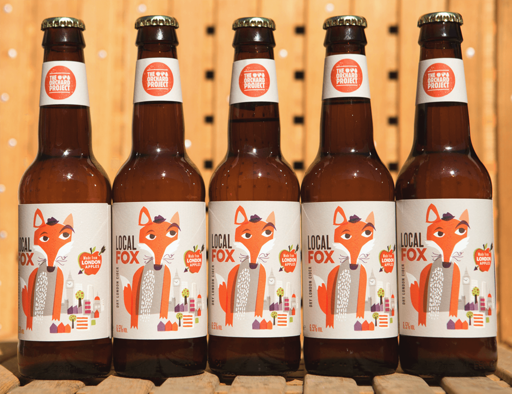 Local Fox Cider Label