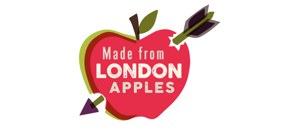 It's an important and interesting point that these products are made from 100% London Apples... this icon highlights that fact!