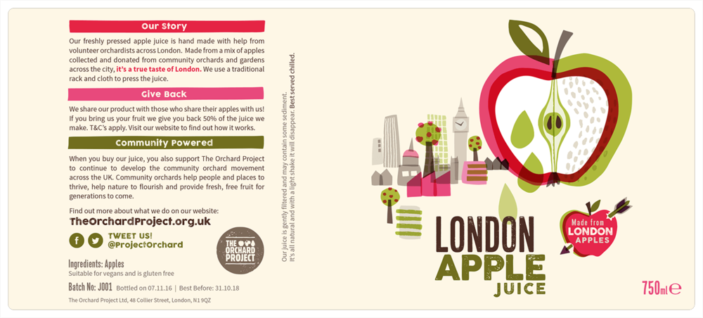 London Apple Juice Label 750ml