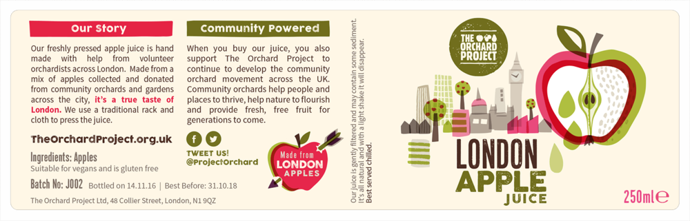 London Apple Juice Label 250ml
