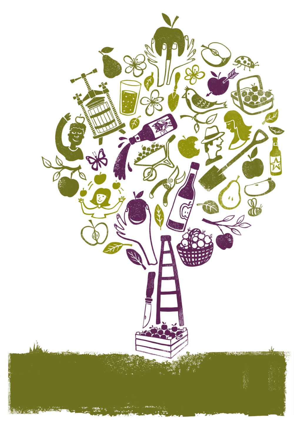 Orchard Project_Tree Event Poster Illustration