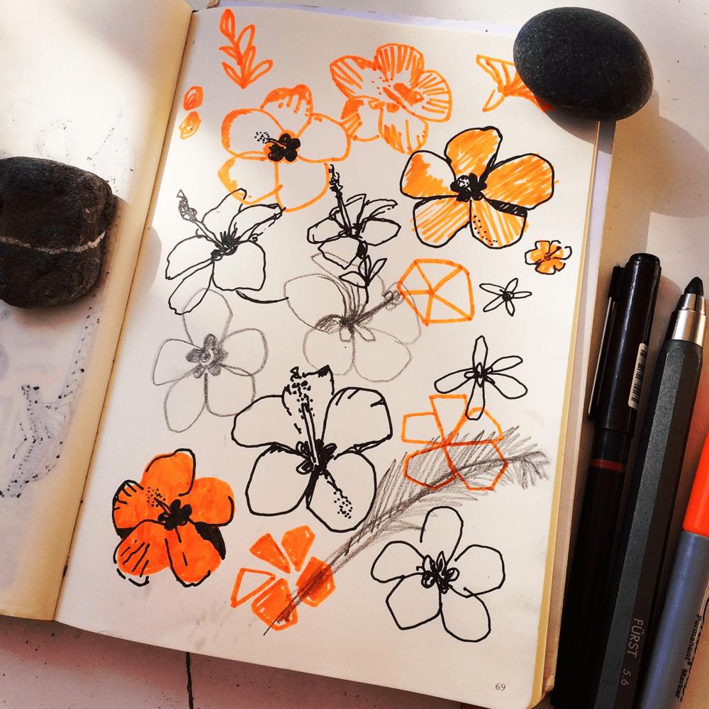 Holiday Sketchbook - Flowers