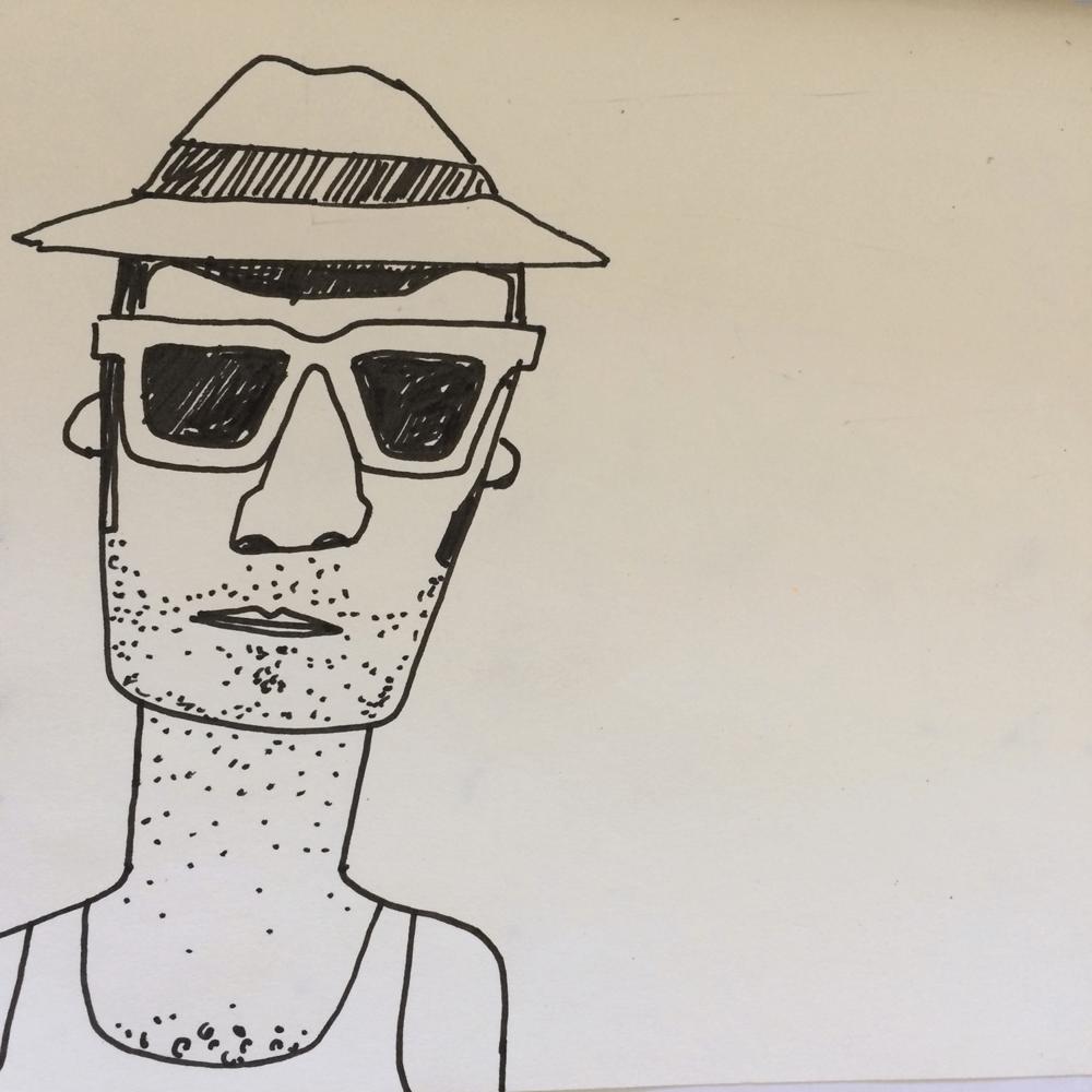 Holiday Sketchbook - Pool Guy