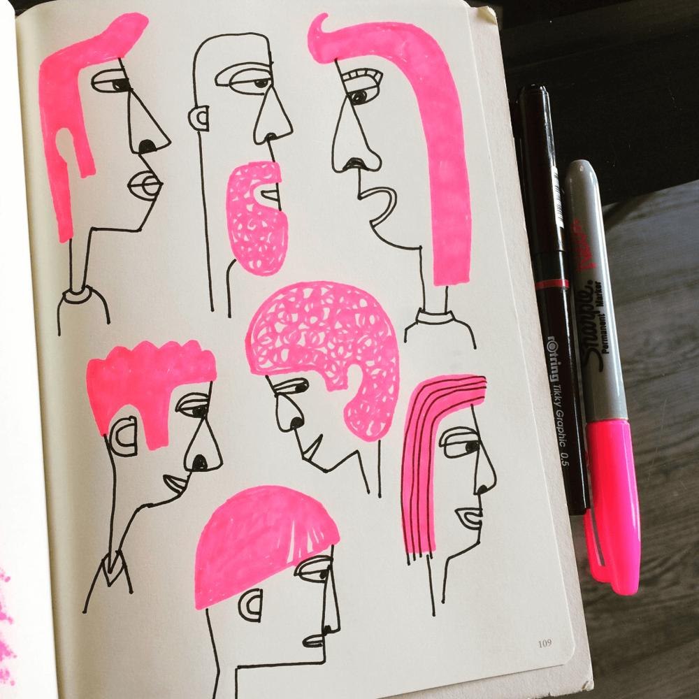 pink hair02©carys-ink