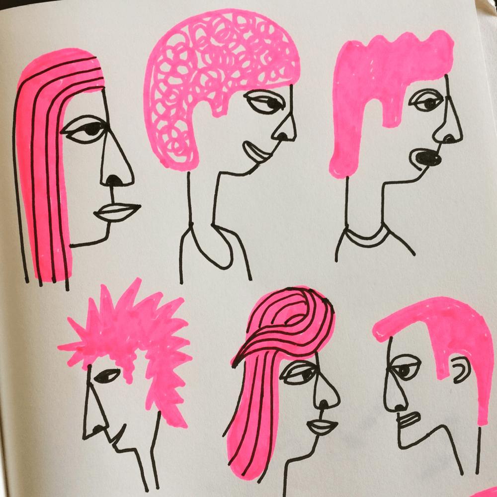 pink hair01©carys-ink
