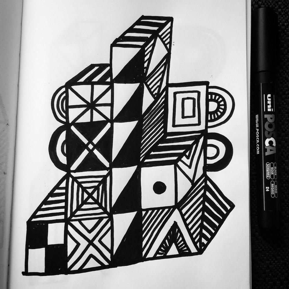 Shape_BlackandWhite_Doodle