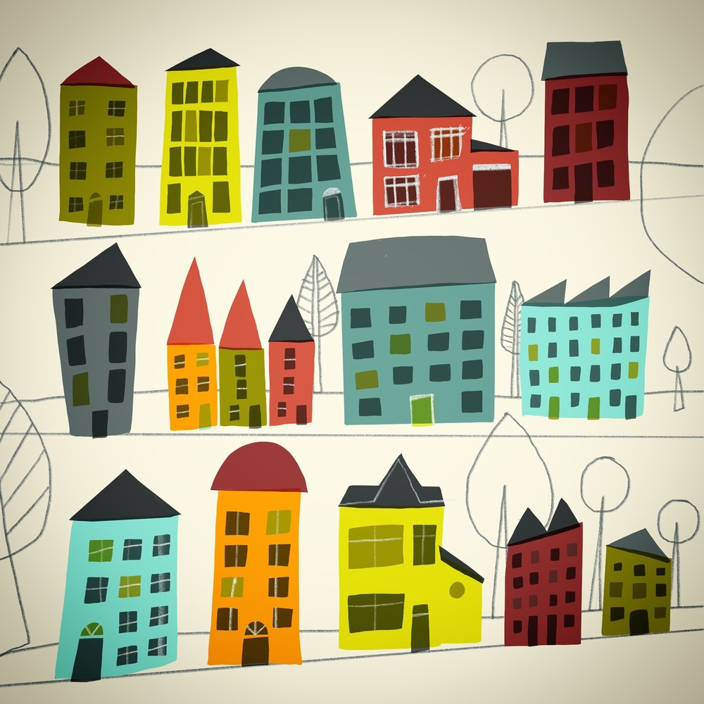 ColouredHouses_©Carys_ink