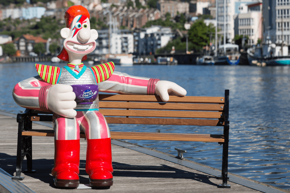 This picture was taken for the Press Launch of Gromit Unleashed 2, ahead of the trail starting