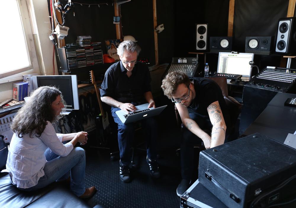 Schlagzeug-Aufnahmen im influx-studio in Bern
